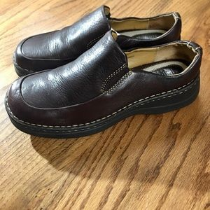 ALPINE DESIGN CHOCOLATE BROWN LEATHER LOAFERS